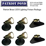 Patriot Brass LED Waterproof Pond and Landscape Lighting Fixture ONLY Kit PF-D4