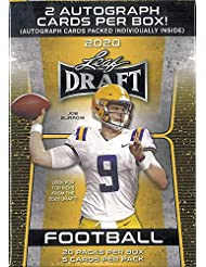 2020 Leaf Draft Football RETAIL box (20 pks/bx, 100 cards total + TWO Autograph cards)