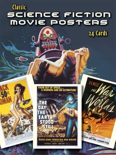Read Online Classic Science Fiction Movie Posters: 24 Cards (Dover Postcards) ebook