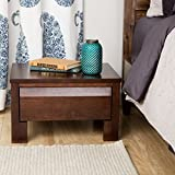Keep night-time essentials close at hand and organized in this Alsa nightstand. This solid wood nightstand has a single drawer and the low height makes it ideal for use next to any bed. The drawer features a metal glide for ease of opening an...