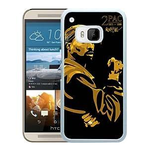 Popular Sale HTC ONE M9,Tupac Amaru White Unique Custom HTC ONE M9 Phone Case