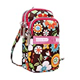vermers Women's Wrist Wallet Mini Bags Fashion Printing Zipper Sport Wrist Bags Purse Clutch(Multicolor1)