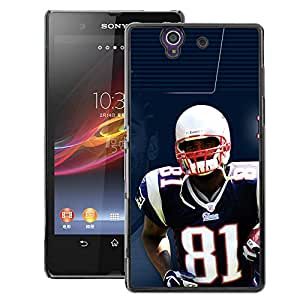 Snap-on Series Teléfono Carcasa Funda Case Caso para Sony Xperia Z L36H , ( 81 NFL Star )