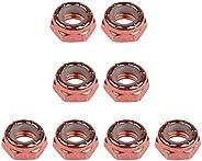 Baoblaze 8pcs Carbon Steel Axle Nuts for Skateboard Longboard Trucks Men & Women Skateboar
