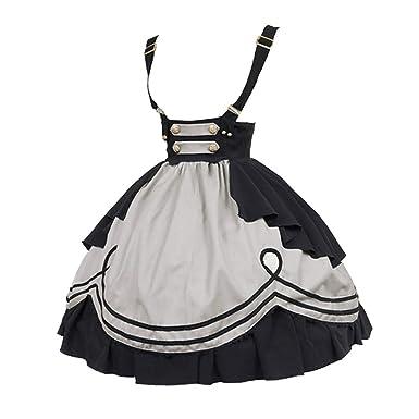 e83d04aa94f020 Femmes Jupe de Lolita Ajustable Sangle Jupe Courte Vintage Médiéval ...
