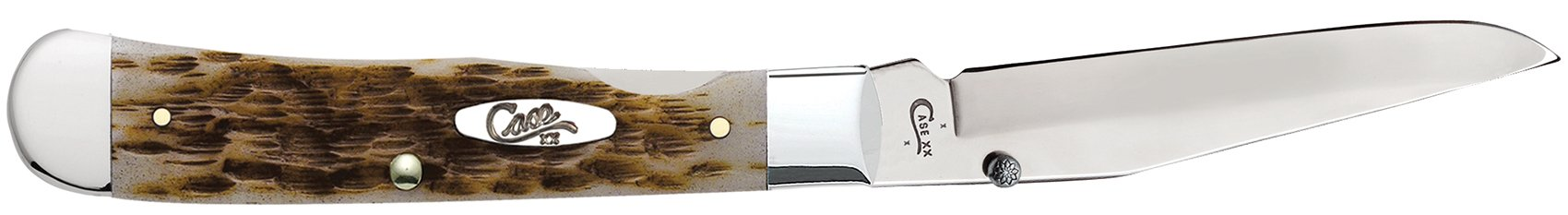 Case Amber Bone CV Trapperlock Pocket Knife with Clip by Case (Image #4)