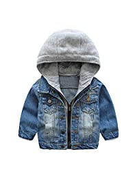 Fepsan Denim Jackets for Boys Autumn Children's Windbreaker Clothing Baby Kids Hooded Outerwear Causal Jeans Coats