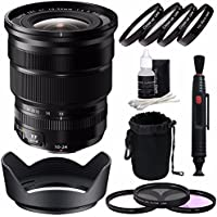 Fujifilm XF 10-24mm f/4 R OIS Lens + 72mm 3 Piece Filter Set (UV, CPL, FL) + 72mm +1 +2 +4 +10 Close-Up Macro Filter Set with Pouch Bundle 2