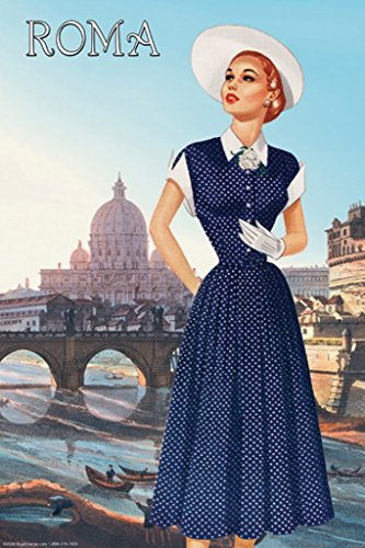 ArtParisienne Roma Vatican View Fashion No. 2 12x18 Poster Semi-Gloss Heavy Stock Paper Print ()