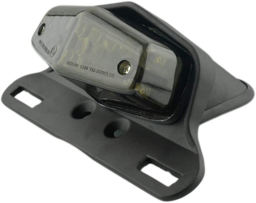 Motorcycle 19 LED Rear Stop Taillight Rear Tail Brake Light License Plate Holder Custom Chrome-Red