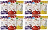 Organic Baby Food Happy Yogis Yogurt Snacks - Banana Mango, Mixed Berry, and Strawberry 1 oz (Pack of 12)