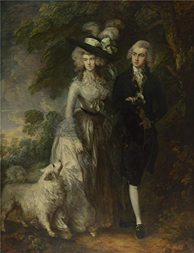 Oil Painting 'Thomas Gainsborough Mr And Mrs William Hallett (The Morning Walk)' 24 x 31 inch / 61 x 80 cm , on High Definition HD canvas prints, gifts for Basement, Home Theater And Kitchen (Daisy Duck Costume Rental)