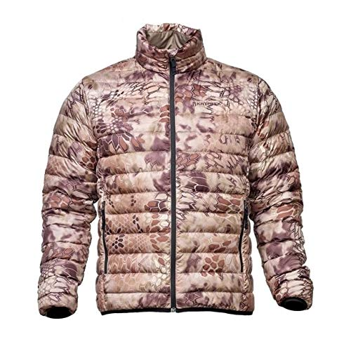 Kryptek Cirius Down Camo Hunting Jacket (Insulation Collection), Highlander, L