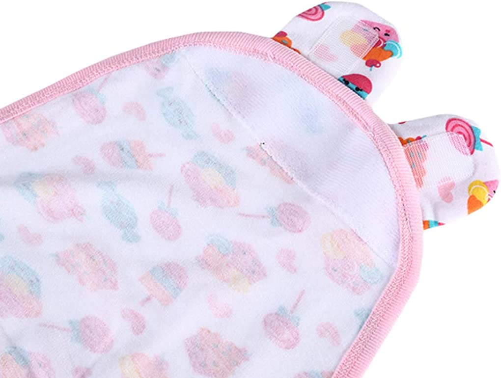 DPSKY Newborn Baby Swaddle Blanket Adjustable Wrap Organic Cotton Sweets Swaddle for Infant Boys Girls