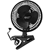 Comfort Zone -6 INCH- -2 Speed - Adjustable Tilt, Whisper Quiet Operation Clip-On-Fan with 5.5 Foot Cord and Steel Safety Grill , Black