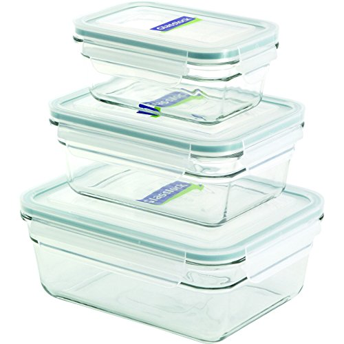 - Glasslock 6-Piece Rectangle Oven Safe Container Set