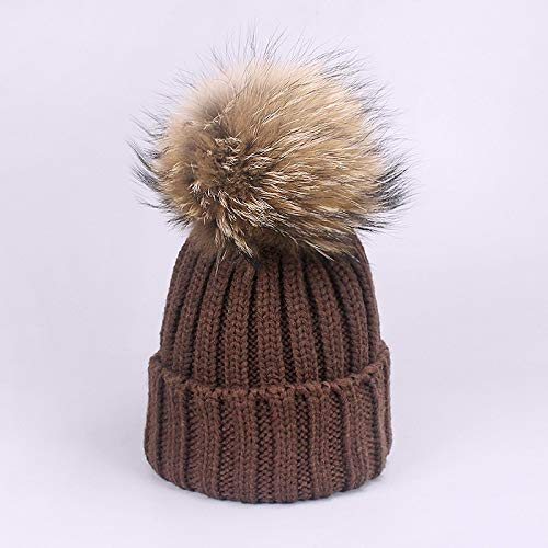 LA Moon s Skullies   Beanies - Warm Chunky Thick Hats and Scarves Real Fur  Pom Pom c21cc1aaeb6