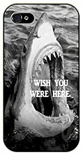 iPhone 4S Shark: Wish you were here - black plastic case / dog, animals, dogs
