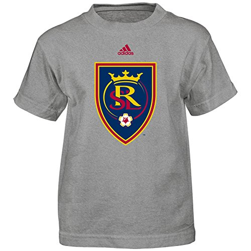 OuterStuff MLS Real Salt Lake Boys -Primary Logo Short sleeve Tee, Heather Grey, Medium (Primary Logo)