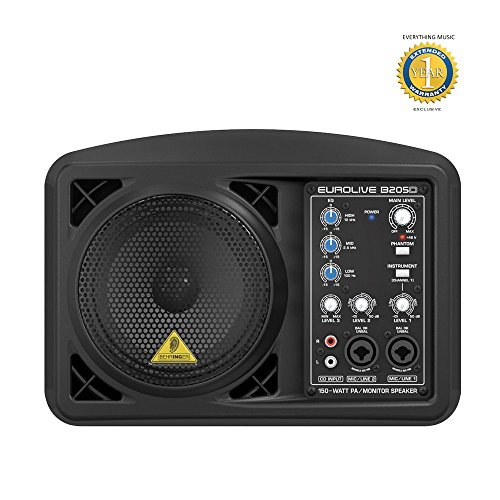 Behringer Eurolive B205D Ultra-Compact 150W PA/Monitor Speaker System with 1 Year EverythingMusic Extended Warranty Free by Behringer