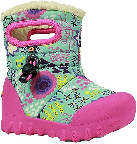 Print Green Multi B Kids' Toddler Winter Insulated Moc Waterproof Boot Reef Mint Bogs O4ZBpp