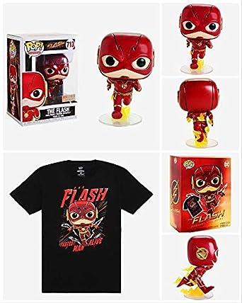 /& Tee Caja Flash Pop Y Camiseta Conjunto de Gran Tamaño DC Jim Lee Funko Pop