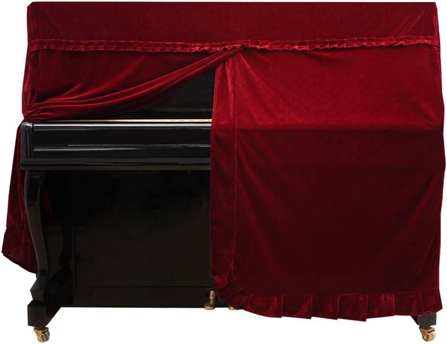 Housse de Piano Droit Housse de protectuion en Velours dor Accessoire de Piano Dilwe Couverture de Piano Droit