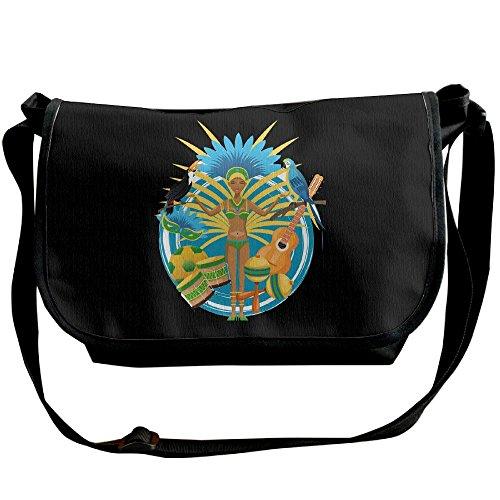 Tropical Africa Portrait Casual Adjustable Strap Shoulder Bag - Crossbody Sling Messenger Bags by LMNTI