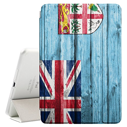 Price comparison product image FJCases Fiji Fijian Wood Pattern Flag Smart Cover Stand + Back Case with Auto Sleep/Wake Function for Apple iPad Mini 1 / 2 / 3