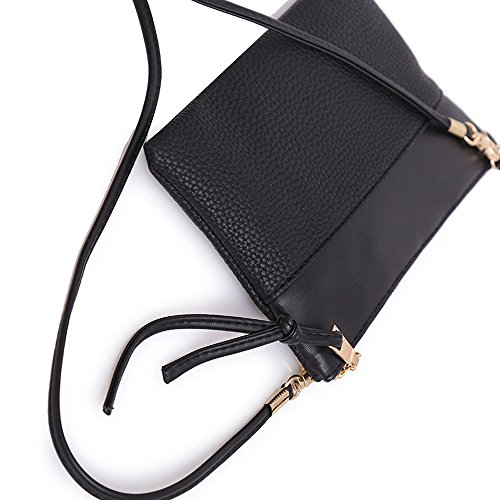 Black Fashion Vintage Leather BESTOPPEN Look Lovely Retro Bag Bag Bag Women Shoulder Womens New Ladies Large Bag Purse Small Messenger Bag Cross Classic for Body Handbag Tote Casual Girls Black Bag Gift qqAR0