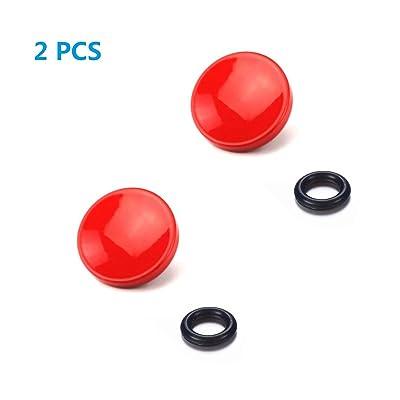 LXH 2 PCS Botón de liberación del obturador rojo cóncavo para cámara con zócalo de liberación del obturador, como Fuji Fujifilm X100T / X100F / X100S / X-E2 / X-E2S / XPRO-1 / X-PRO2