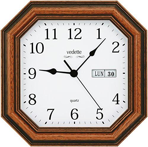 Vedette 109.0308.18 - Reloj de Pared en Madera (Cuarzo)