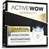 Active Wow Natural Charcoal Teeth Whitening Kit - With LED Accelerator