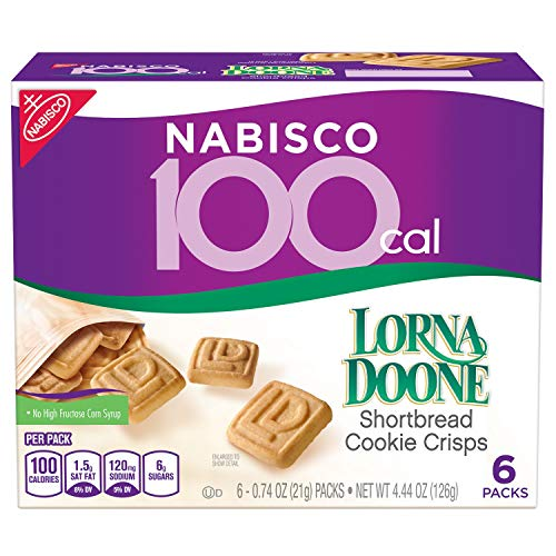 Nabisco 100 Cal Lorna Doone Shortbread Cookie Crisps, 6 Count Box, 4.44 Ounce (Pack of 6)