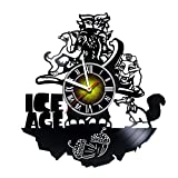 Toffy Workshop Ice Age – Movie - Handmade Art Vinyl Record Wall Clock - Artwork Gift Idea for birthday, christmas, women, men, friends, girlfriend boyfriend and teens - living kids room nursery