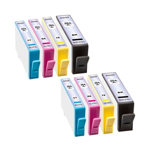 platinumserie Impresora Cartuchos de Tinta XXL con chip compatible con HP 364Black cian Magenta Yellow 2