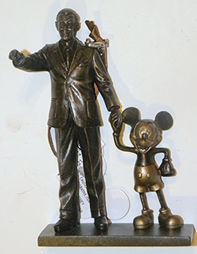 (Disney World WDW Park 2015 Partners Statue Mickey Walt Holding Hands Christmas Ornament)