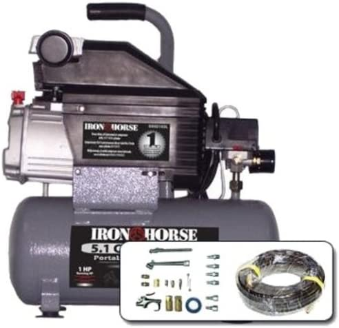 [해외]Iron Horse IHHD103L-AK 3.2-Gallon 125 PSI Max Hot Dog Air Compressor / Iron Horse IHHD103L-AK 3.2-Gallon 125 PSI Max Hot Dog Air Compressor