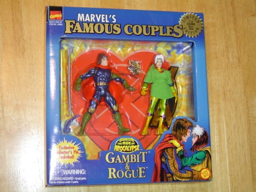 X Men Marvel's Famous Couples Gambit and Rogue Limited Edition Collector's Set