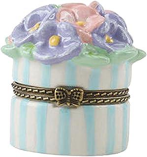 Generic Lovely Ceramics Fashion Trinket Jewelry Box Necklace Storage Dresser Decor-Bouquet