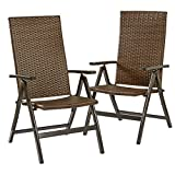 Greendale Home Fashions Hand Woven PE Wicker Outdoor Reclining Chairs For Sale