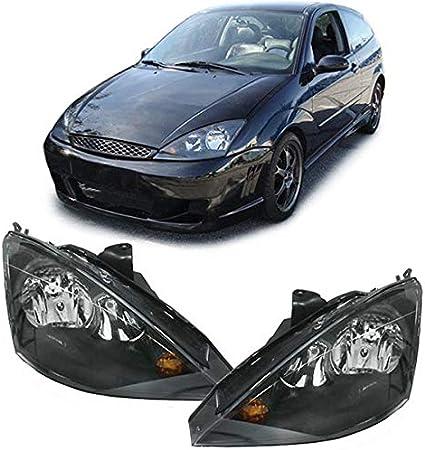 Carparts Online 10564 Klarglas Scheinwerfer H7 H1 Schwarz Paar Auto