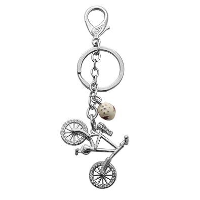 senfai - Llavero metálico, diseño bicicleta: Amazon.es: Joyería