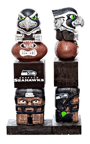Evergreen Tiki Totem Statue NFL Seattle Seahawks Football Team