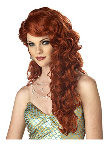 California Costumes Women's Mermaid Wig,Auburn,One Size ()