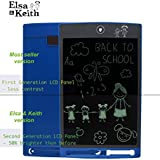 """Elsa & Keith 8.5"""" LCD Writing Tablet - Magnetic Message Board - Fridge Attach Metal Attach etc. Tablet for Adult and Kids (Royal Blue)"""
