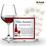 NEW Organic Wine Allergy Sensitivity Prevention Wine Sulfite Remover with All Natural Ingredients Better Than Hangover Prevention Remedies & Wine Filters Stops Red Wine Headaches Nausea IBS (18 Packs)