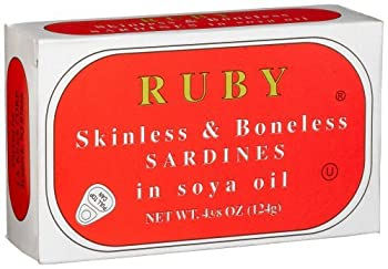 Ruby Skinless and Boneless Canned Sardines In Soya Oil