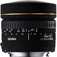 Sigma 8mm F3.5 EX DG Circular Fisheye Lens for Canon DSLR Cameras