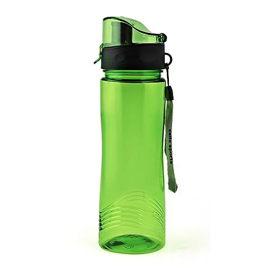 Cello Sportster Plastic Sports Bottle Set, 700ml, Set of 2, Green